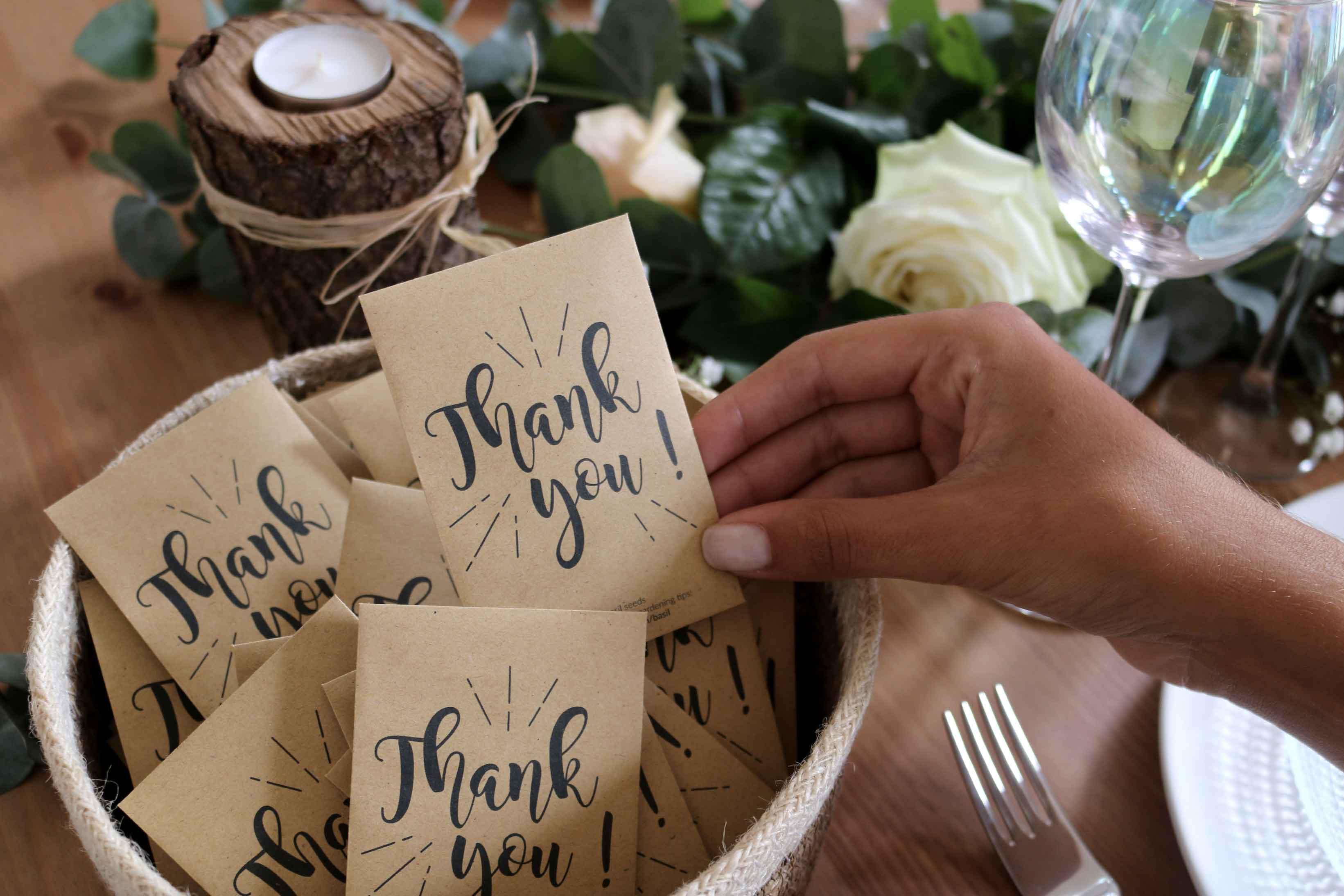Cadeaux d'invites eco-responsables