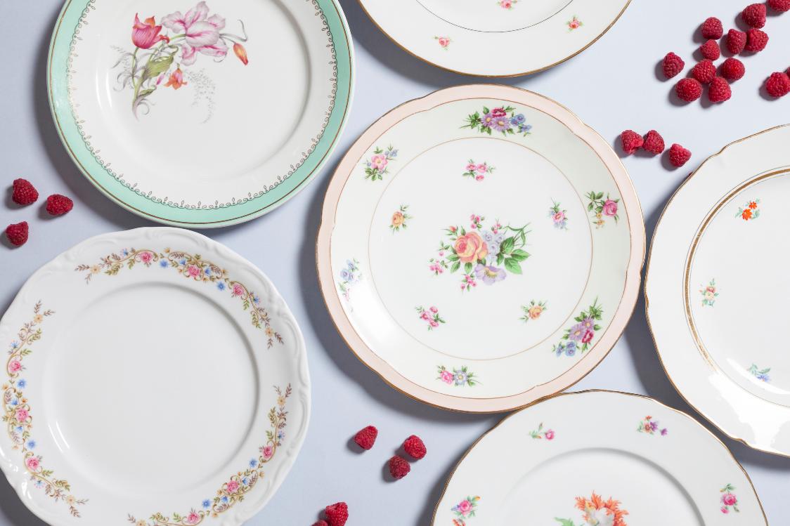 vaisselle vintage pour mariage Nantes