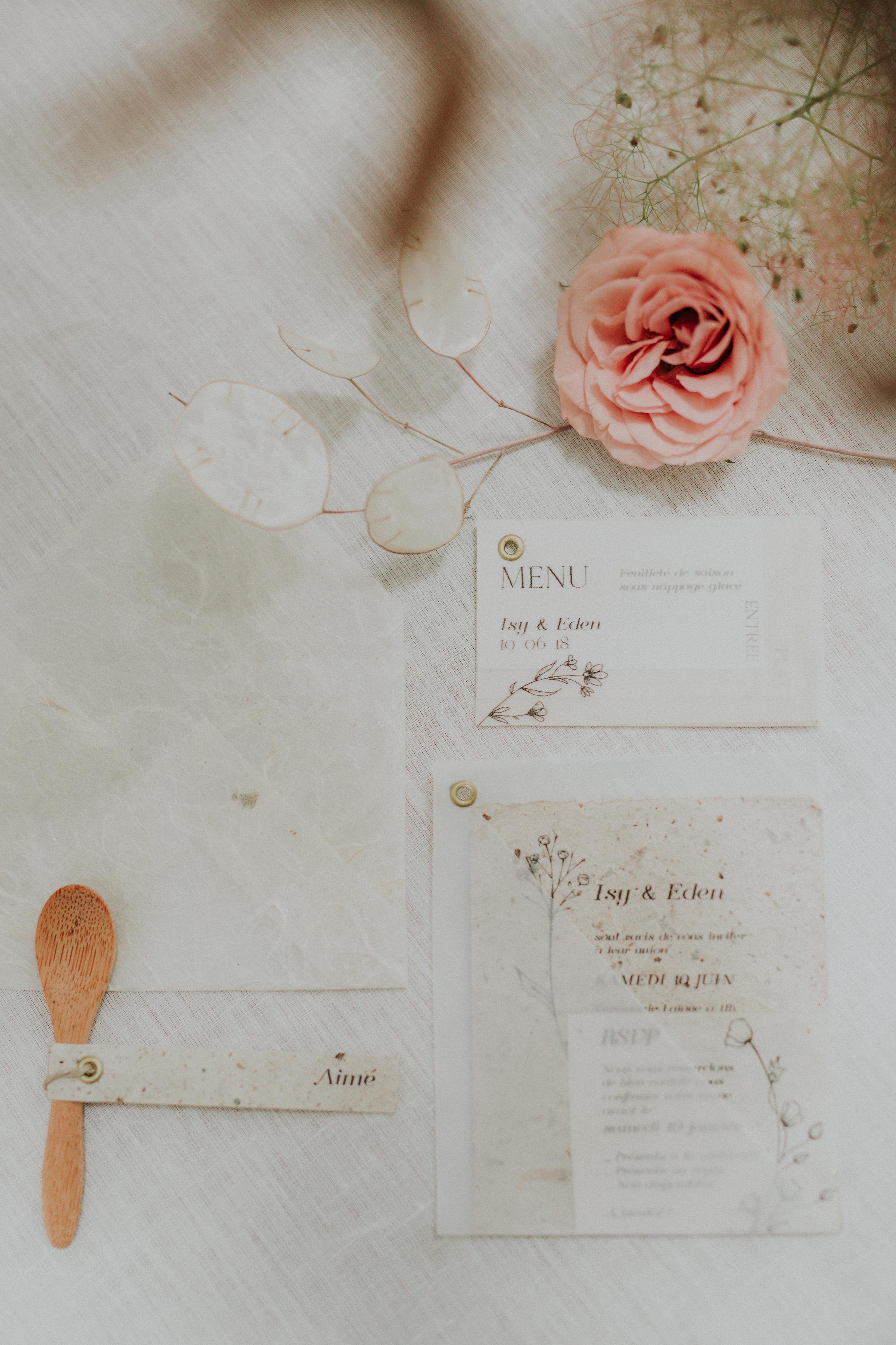 Papeterie de mariage calque