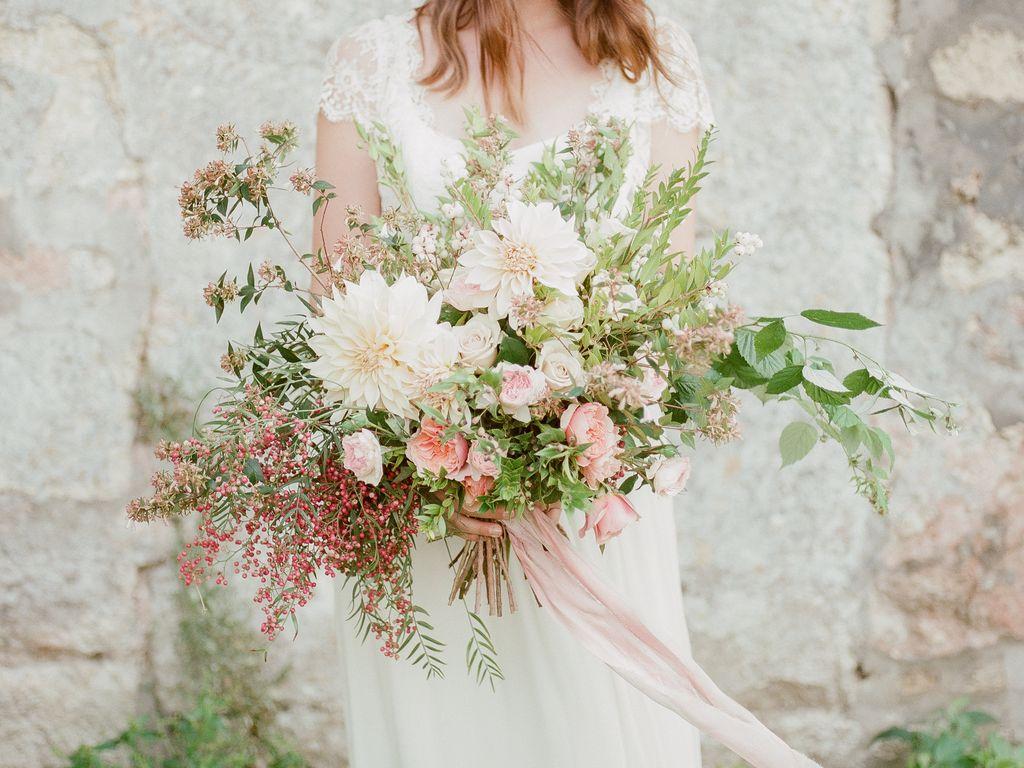 decoration florale mariage bouquet mariee