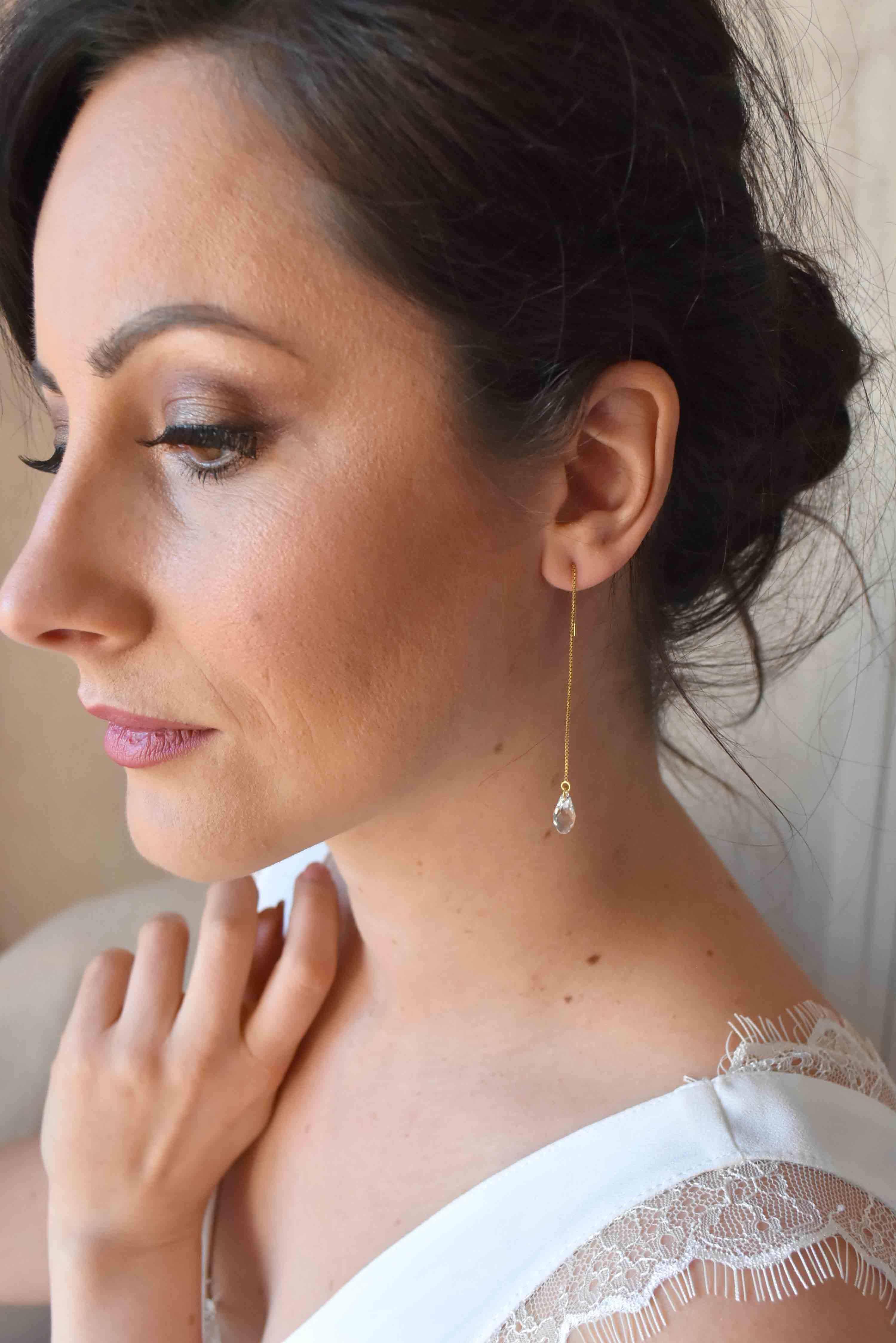 boucles d'oreilles pure dore mariage pays de la Loire