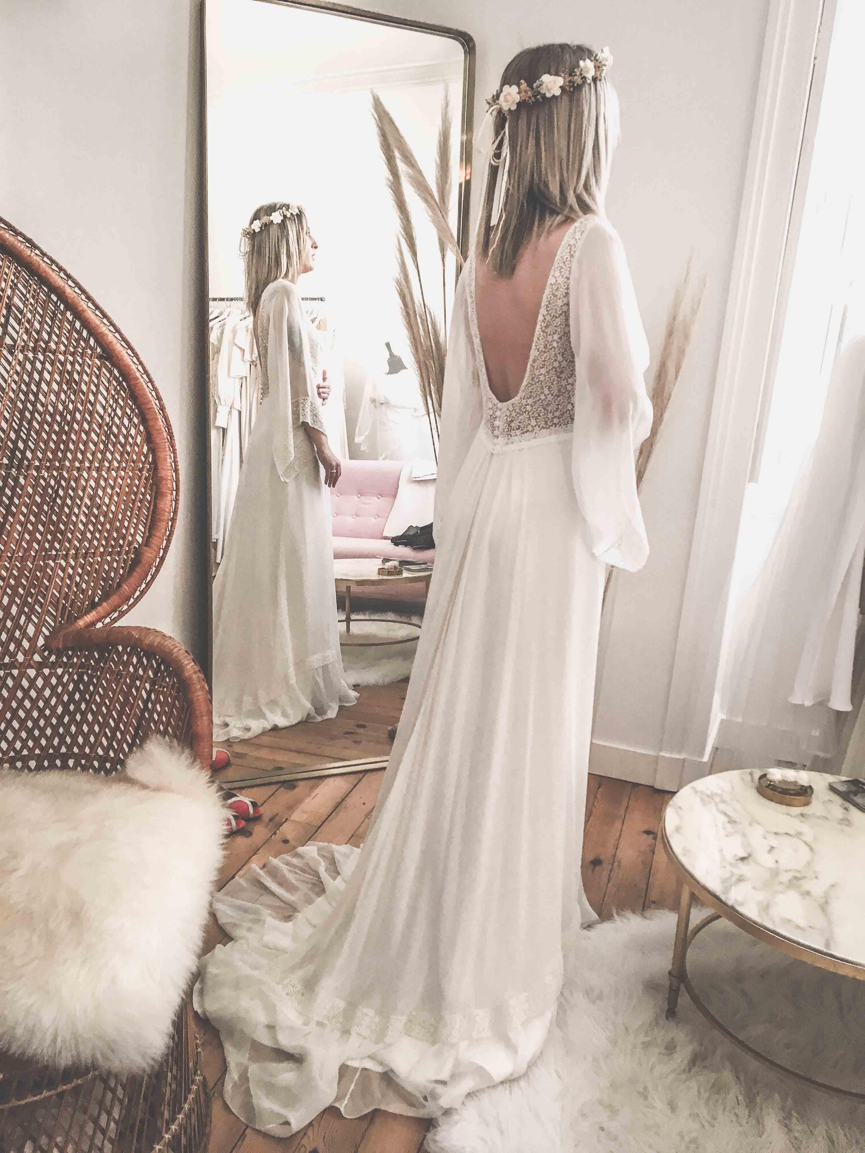 robe de mariée Loire Atlantique mariage ourlet