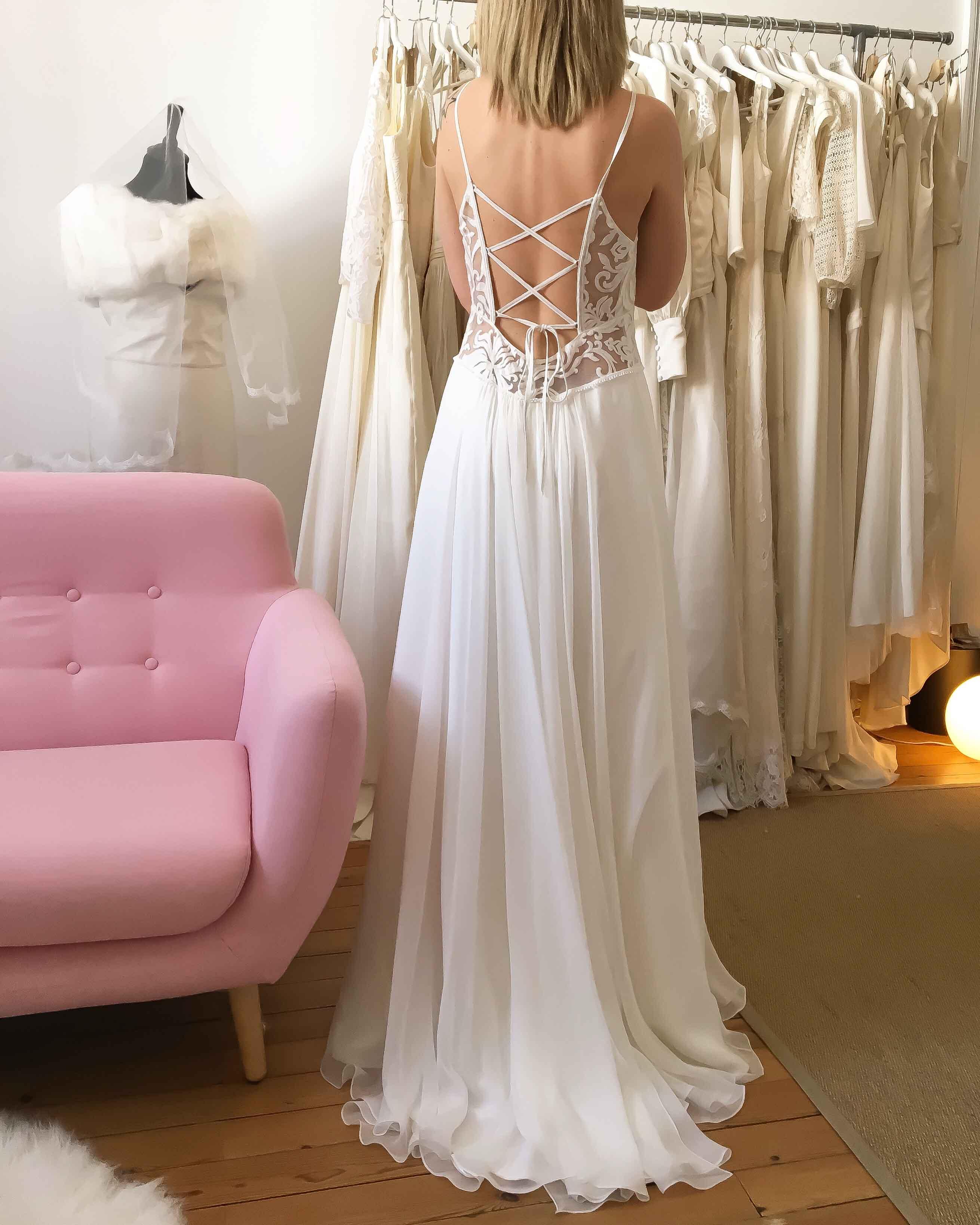 robe de mariée Nantes ourlet