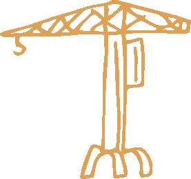 Pictogramme représentant une grue de Nantes