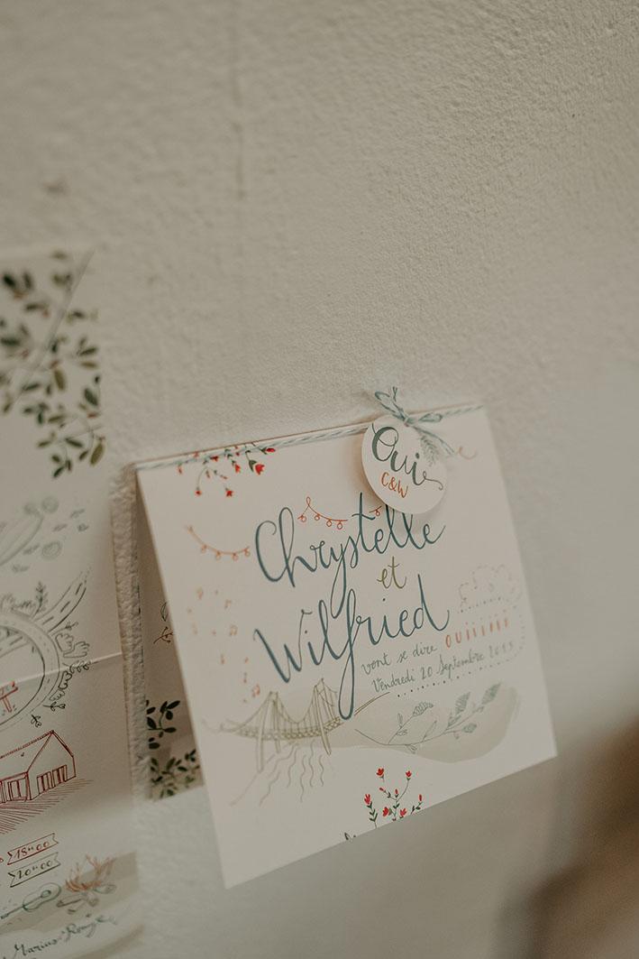 faire part de mariage calligraphie