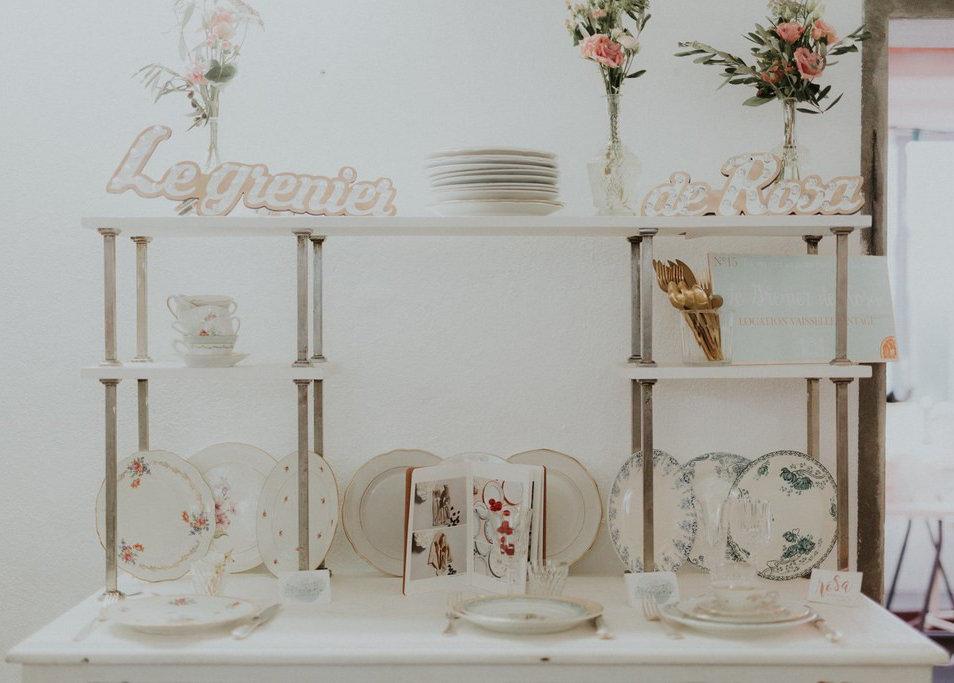 Vaisselle à l'Atelier Wedding