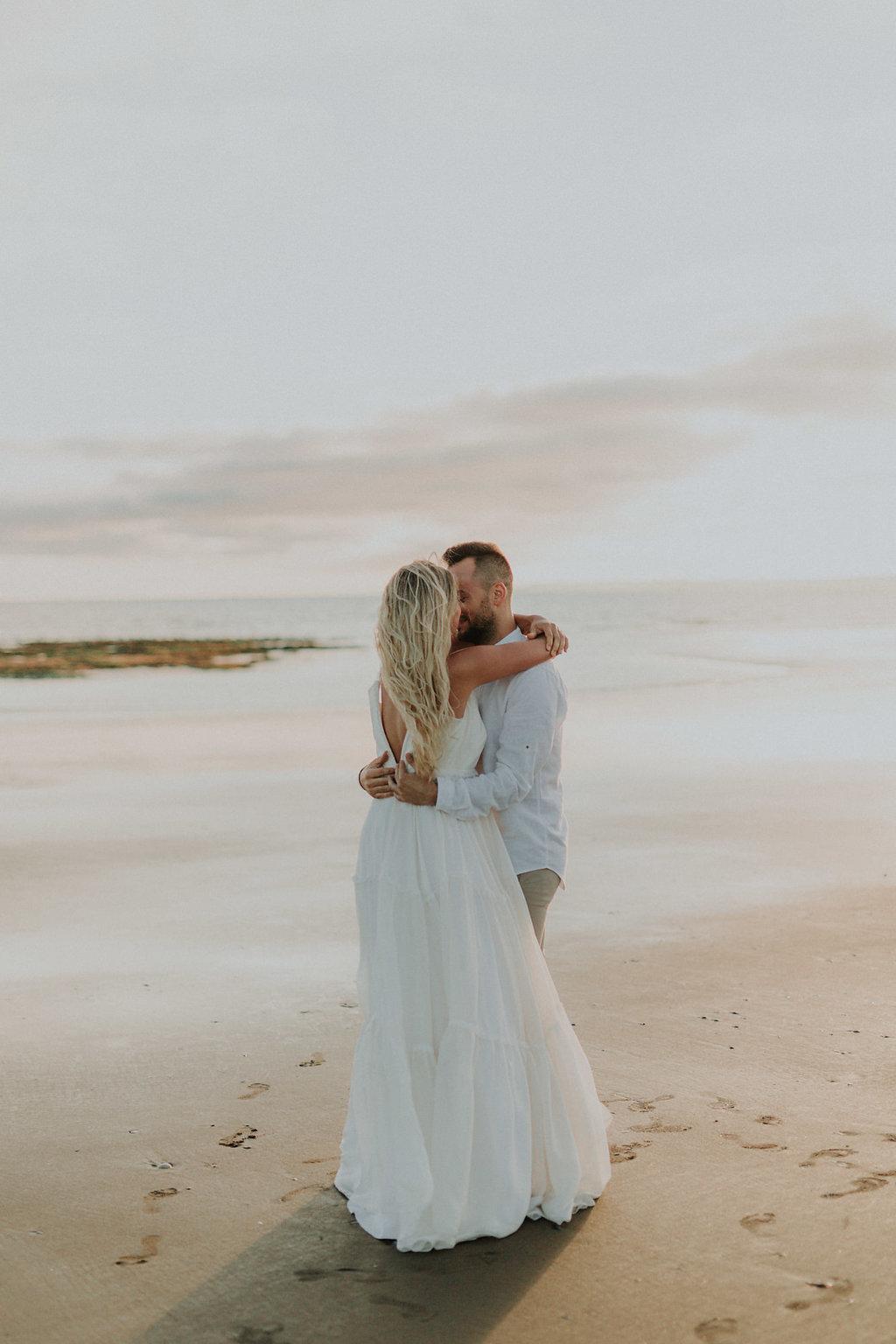 Amoureux sur la plage
