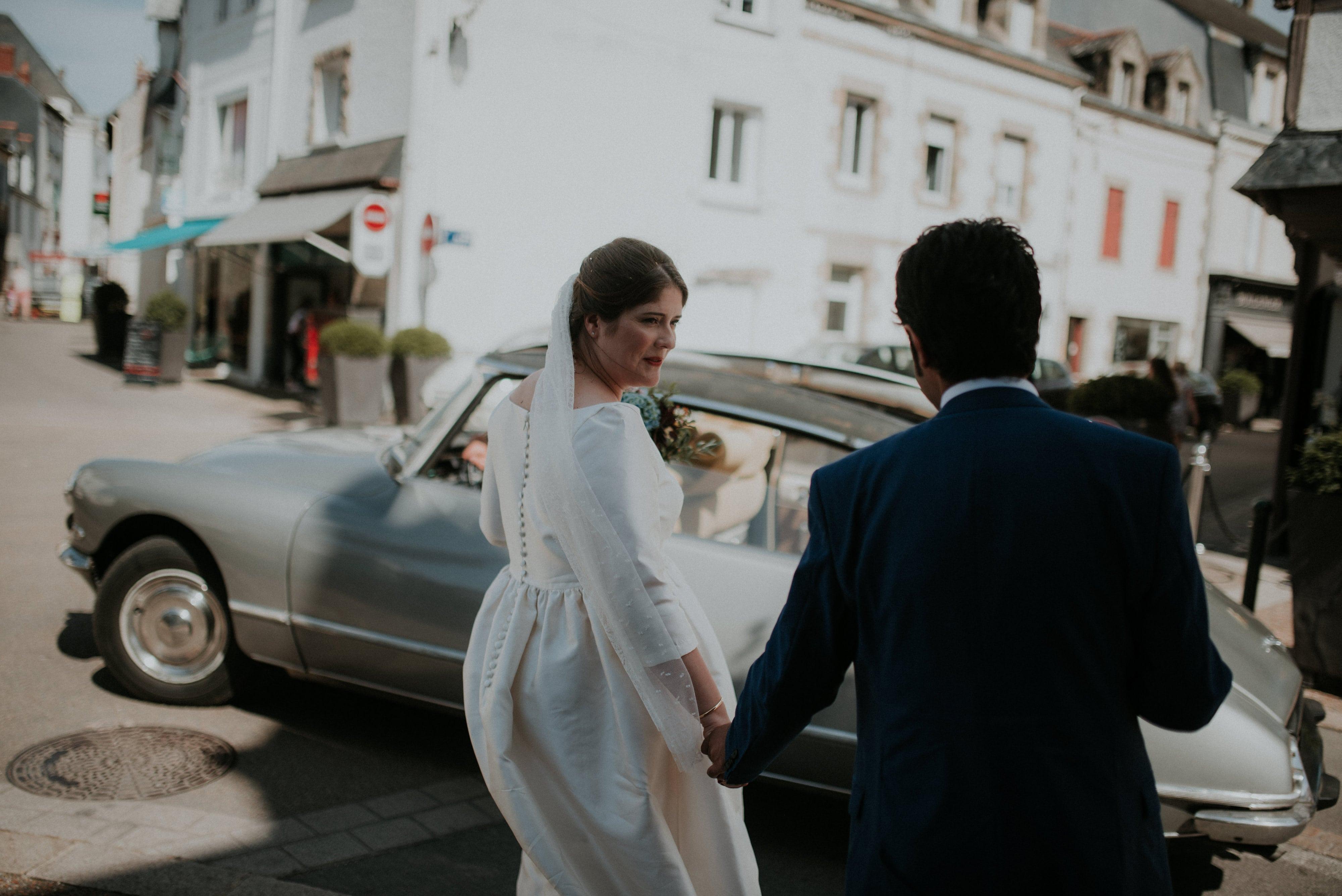 mariage simple a Guerande château de Villeneuve