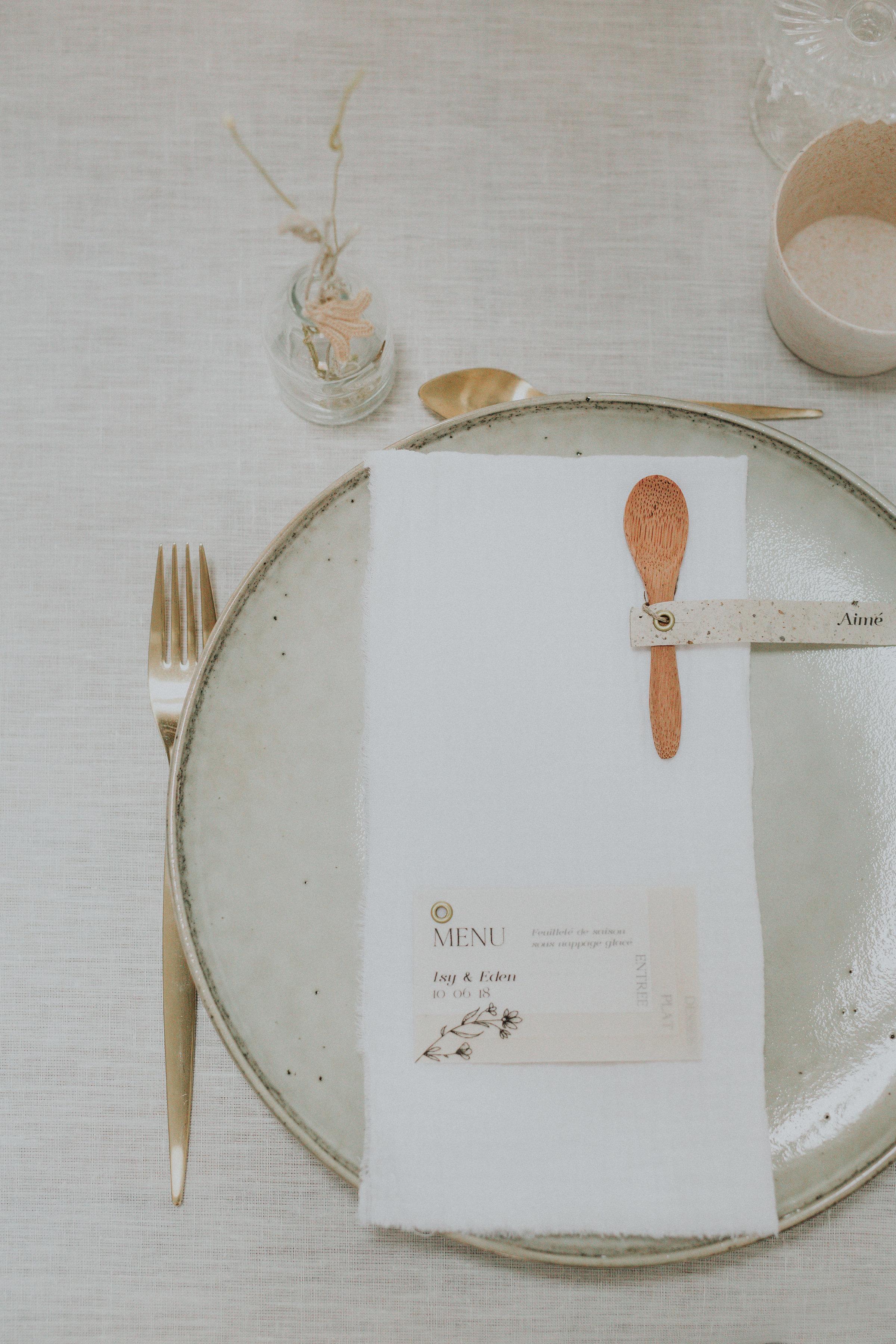 vaisselle mariage Eco-responsable