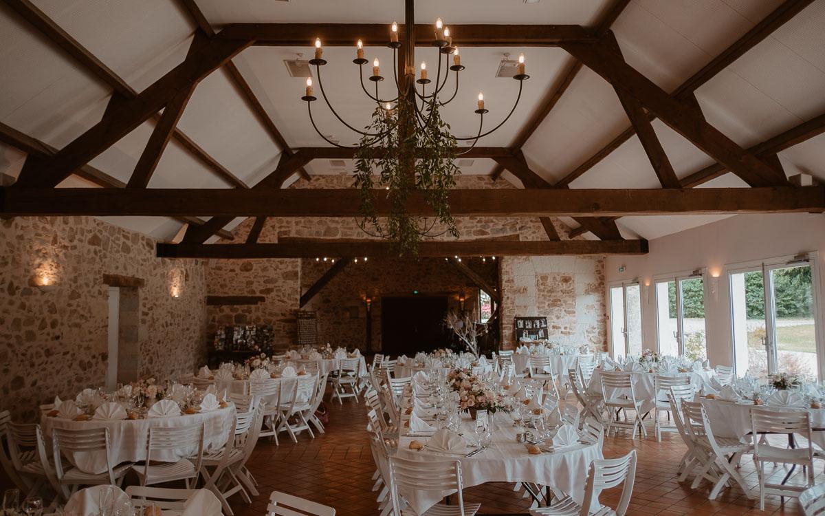 décoration mariage château de la rousseliere