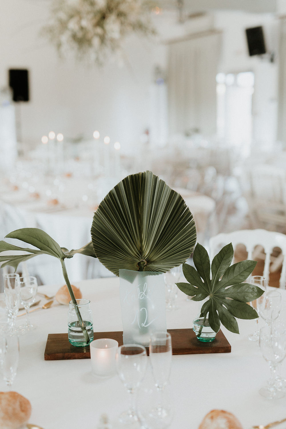 centre de table theme tropical mariage