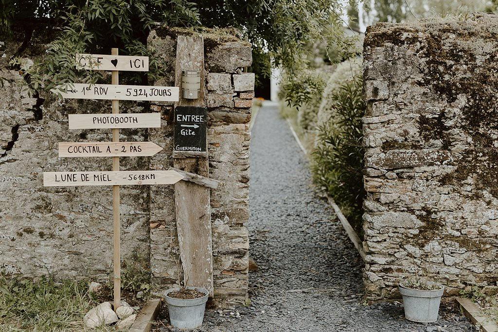 signalétique mariage pays de la Loire