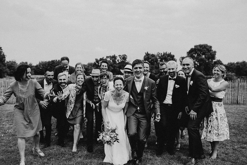 photo de groupe mariage Nantes