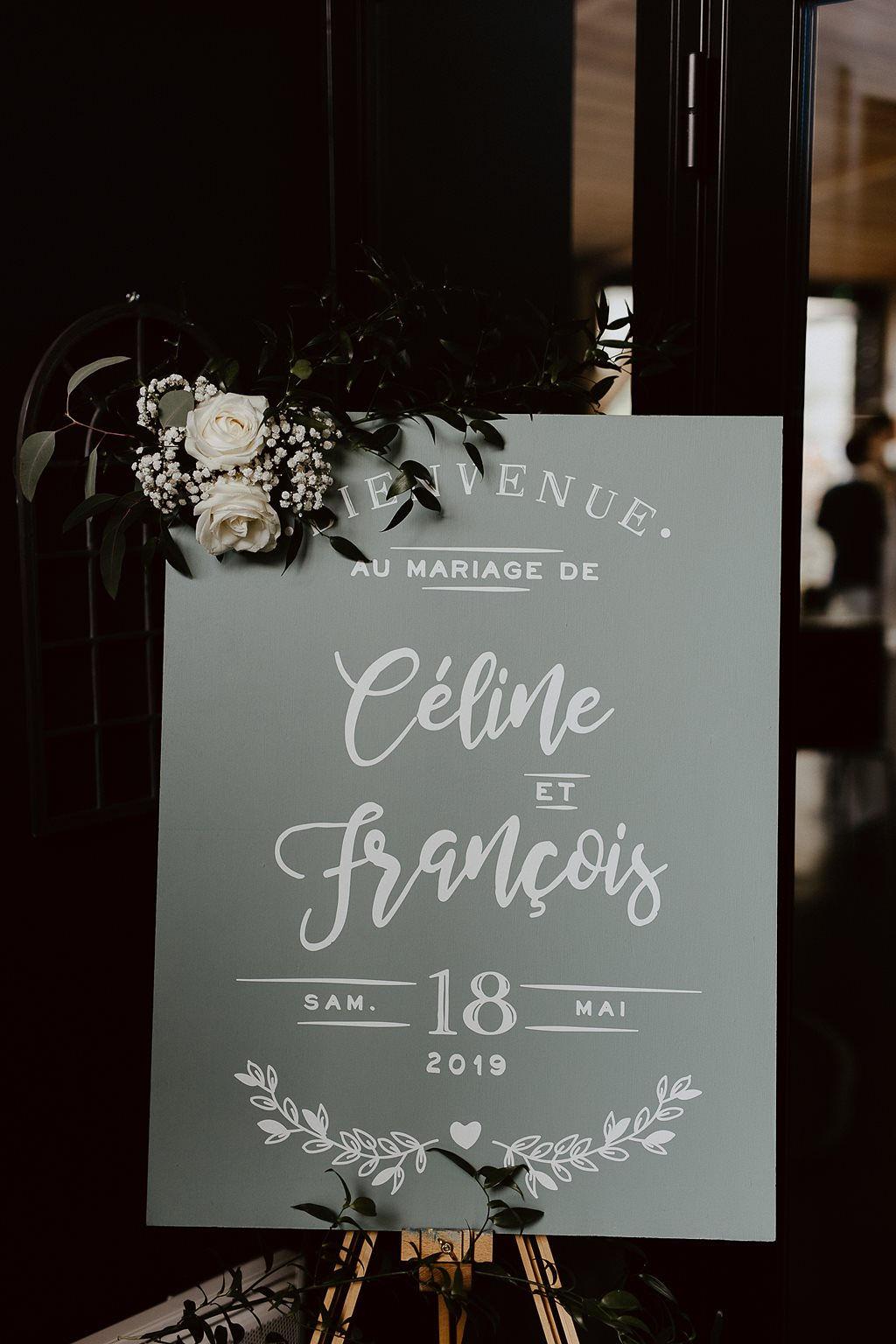 panneau bienvenue mariage Loire atlantique