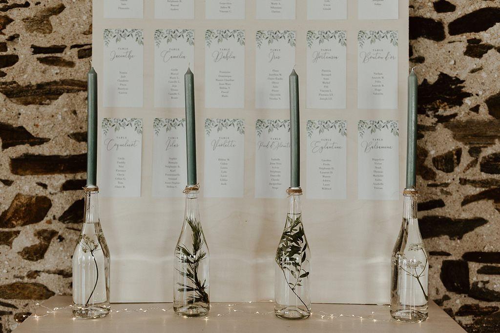 plan de table naturel végétal mariage