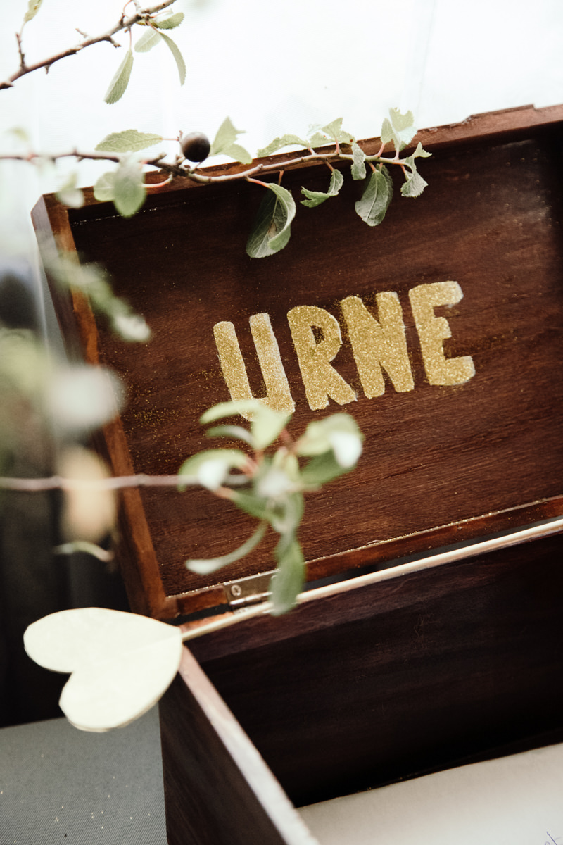 urne mariage champetre