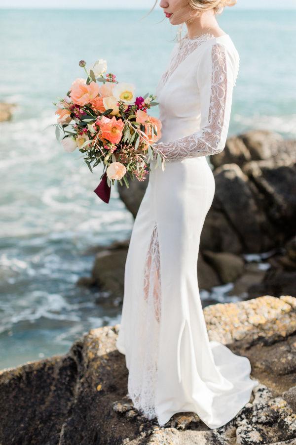 Robe de mariee glamour sur-mesure Silvene Hedon Nantes