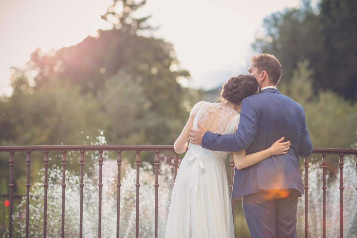 Tenues mariage assorties couple sur-mesure Nantes Silvene Hedon 44