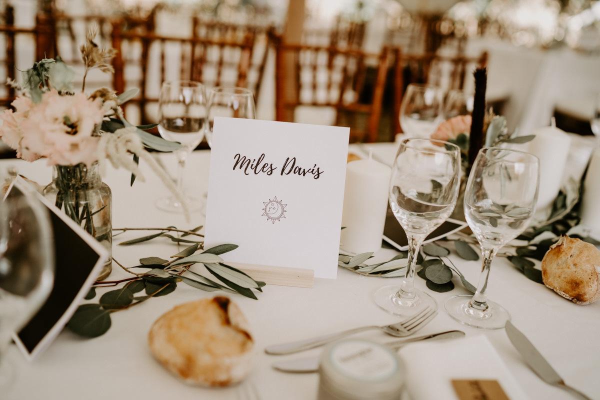 nom de table mariage boheme