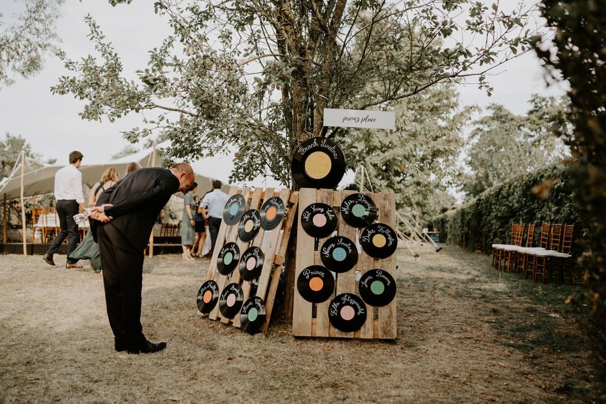 plan de tables theme musique mariage