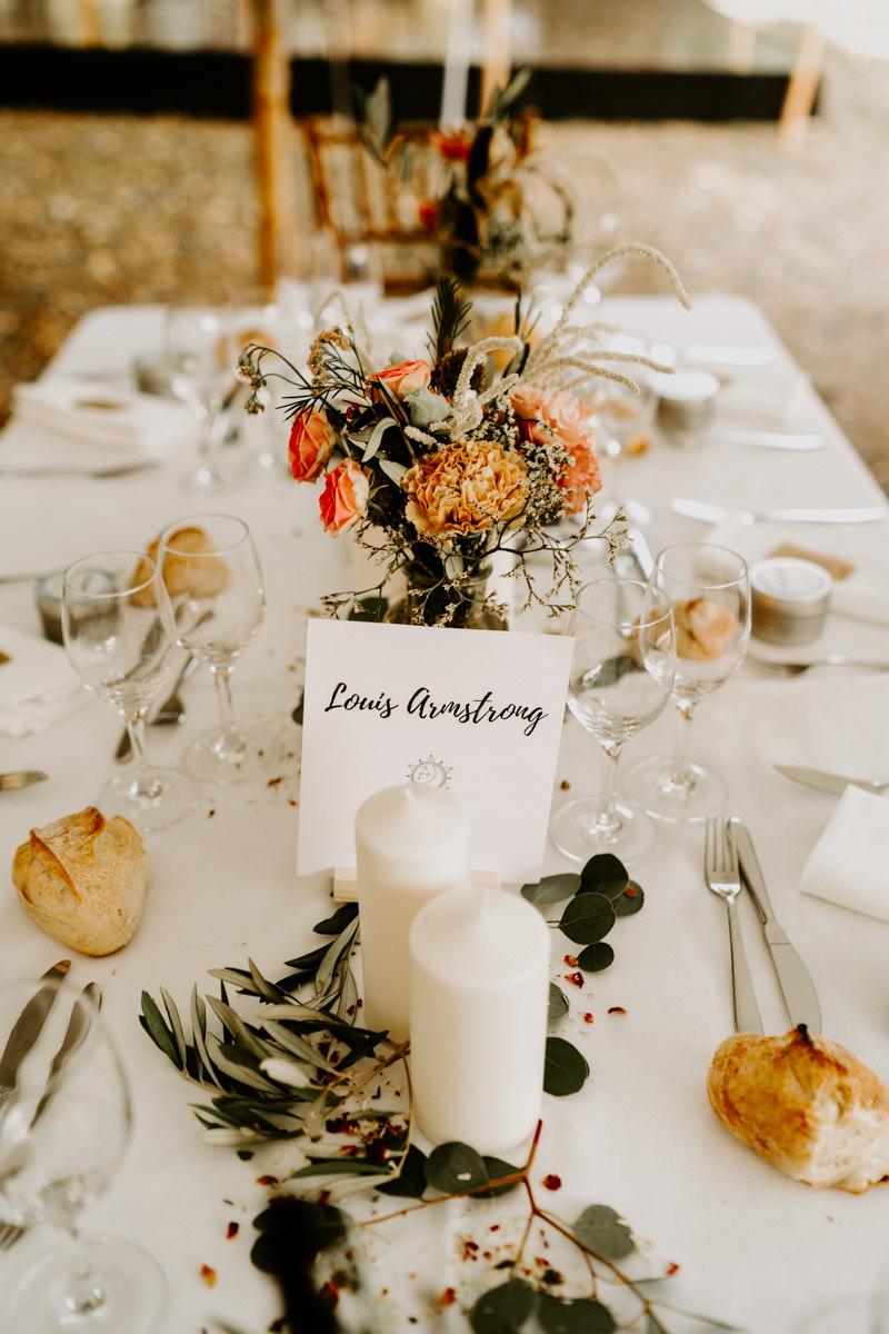 décoration de table mariage vendee