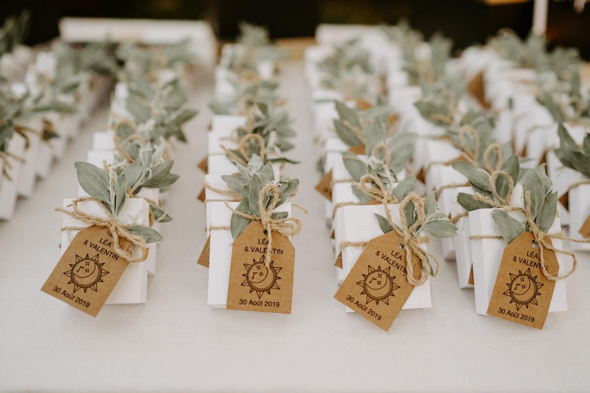 cadeaux d'invites mariage boheme