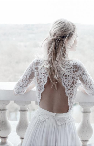 robe mariage moderne bohème Angers