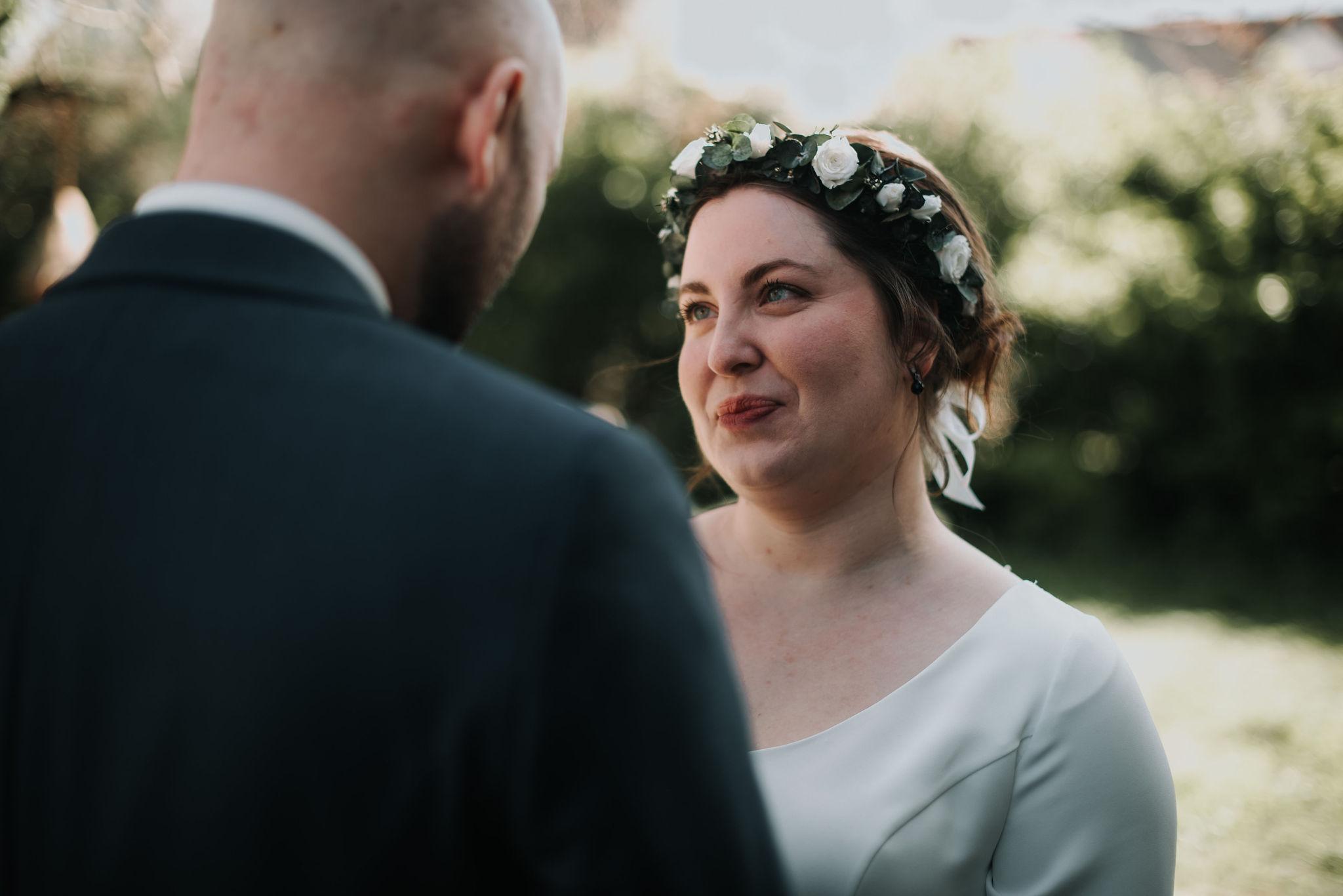 couronne de fleurs mariage vannes bretagne