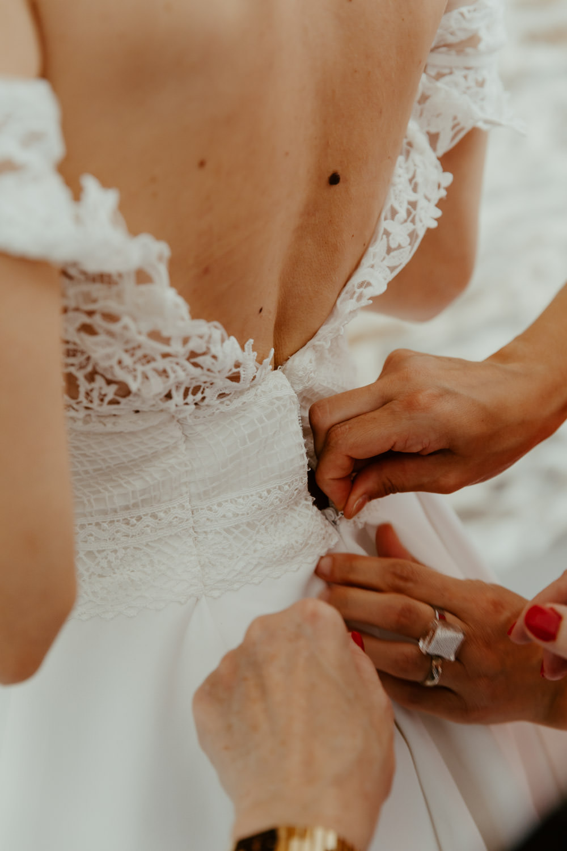robe de mariée bohème moderne