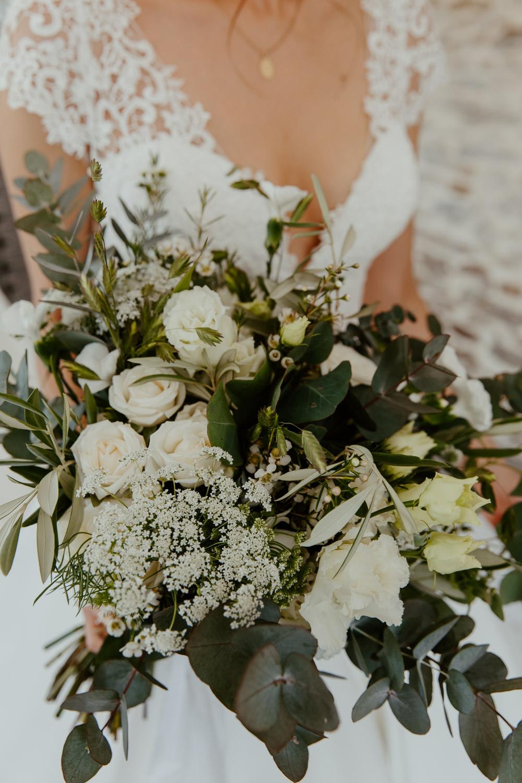 bouquet de mariee vegetal eucalyptus