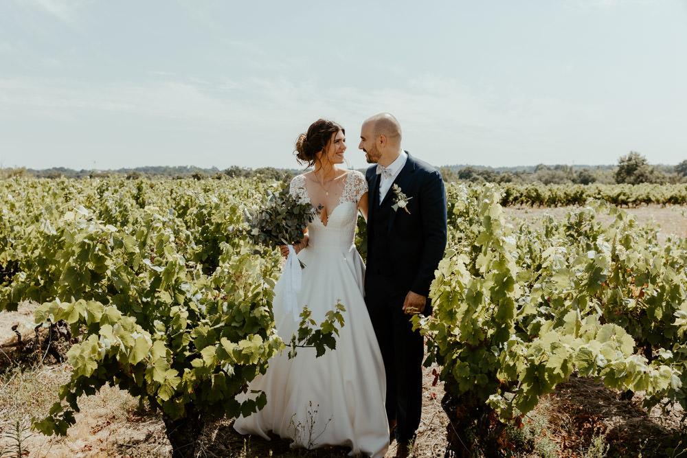 seance de couple dans les vignes