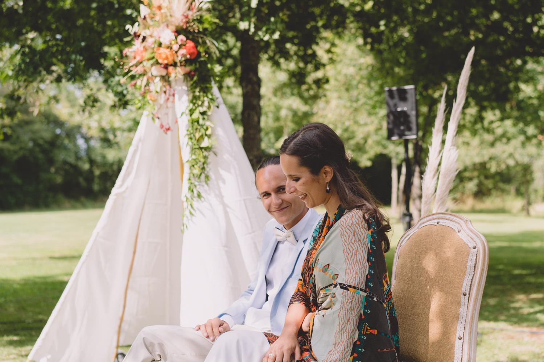 Idées déco Tipi cérémonie mariage bohème