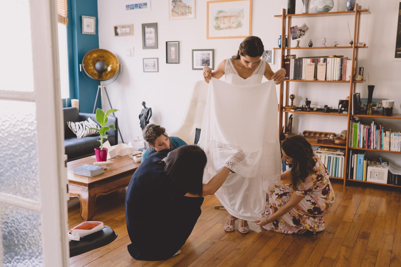 Robe mariage bohème nantes