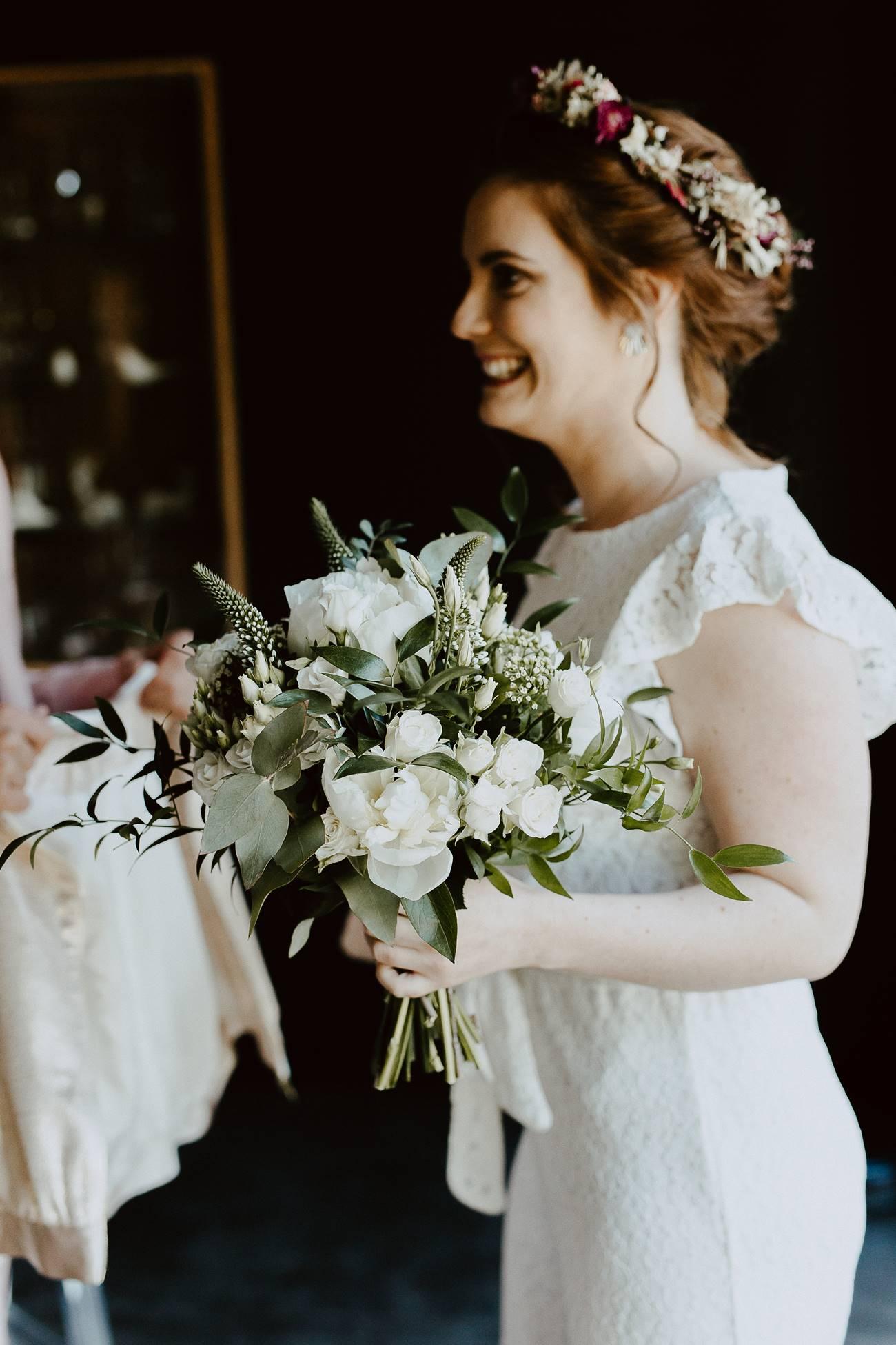 bouquet végétal mariage nantes