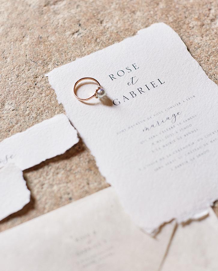 faire part mariage papier artisanal