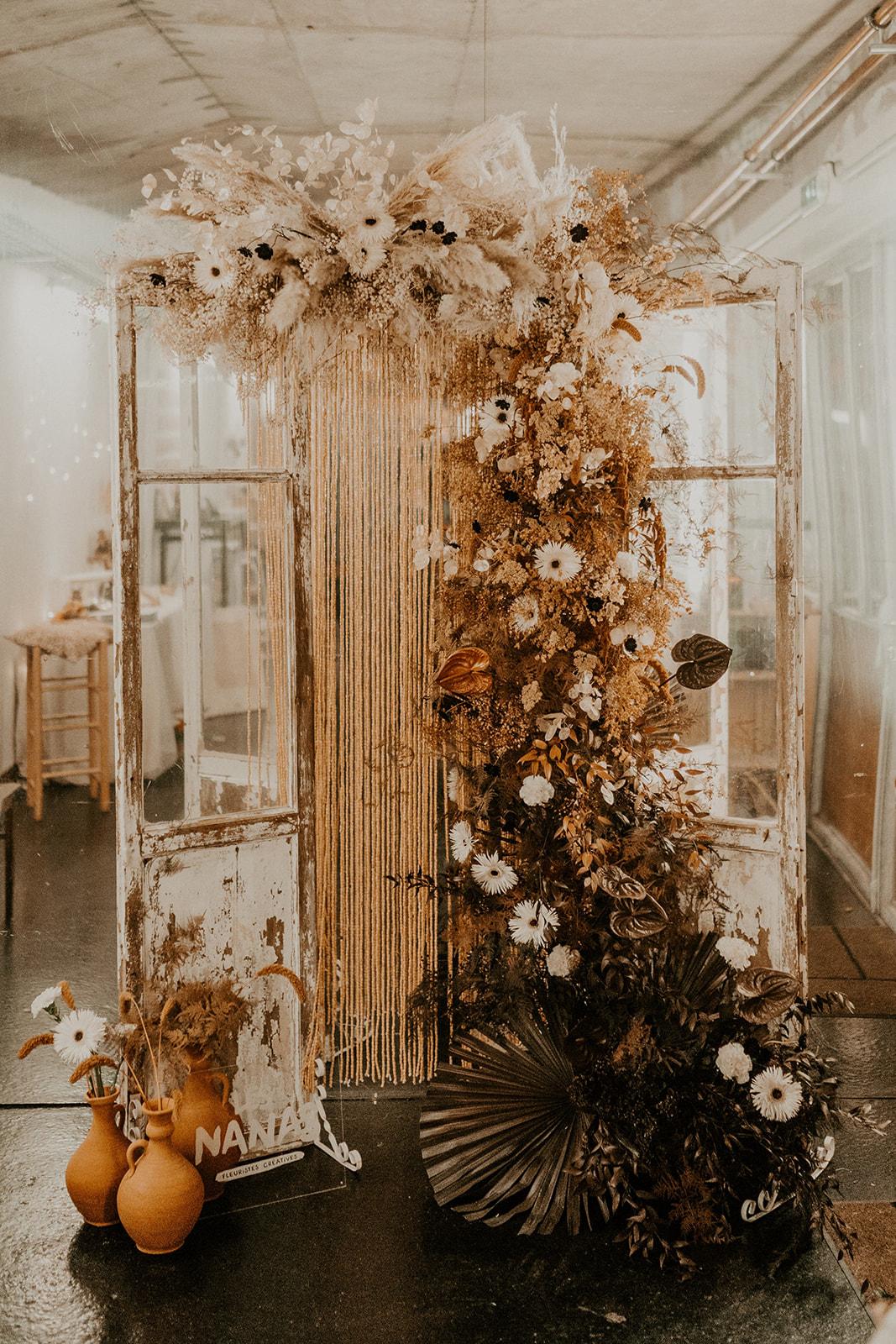 decoration florale boheme ceremonie laique nantes