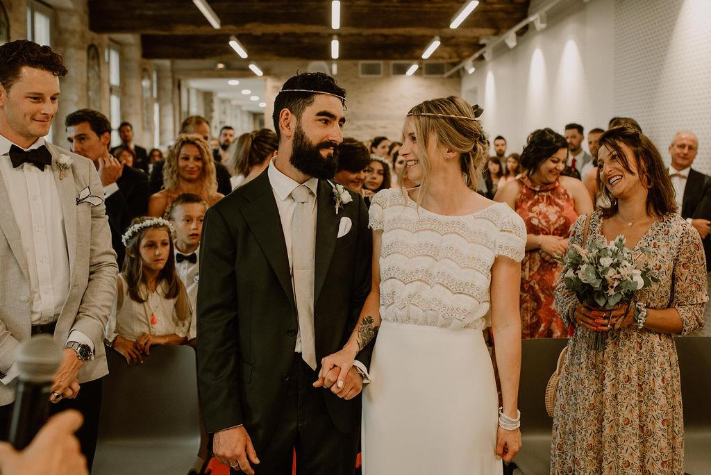 mariage boheme chic mairie guerande