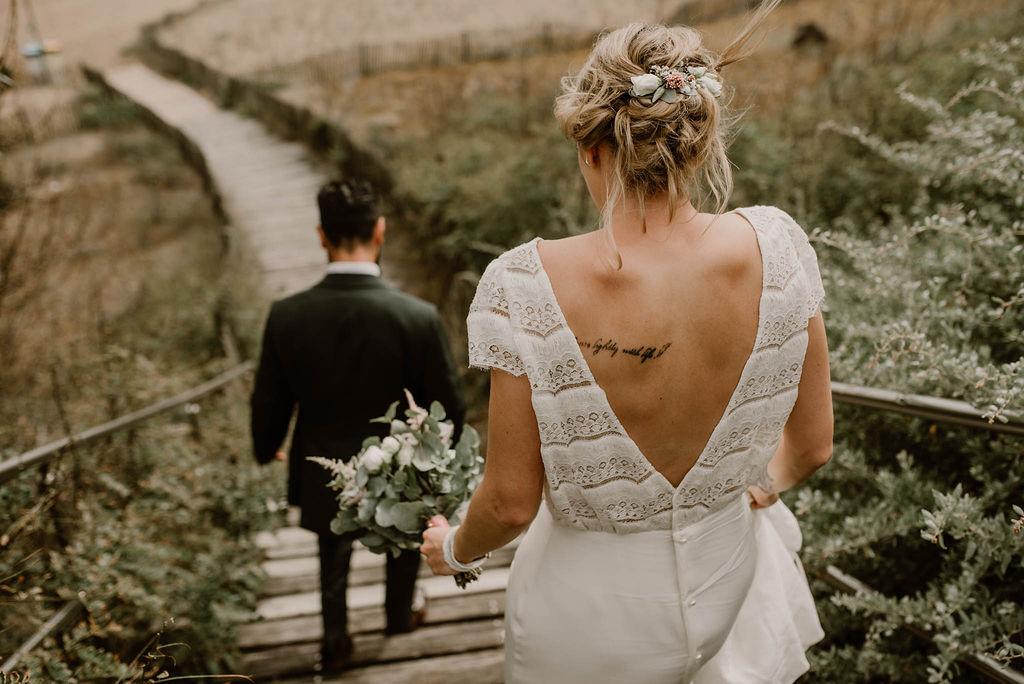 mariage boheme chic guerande robe laure de Sagazan