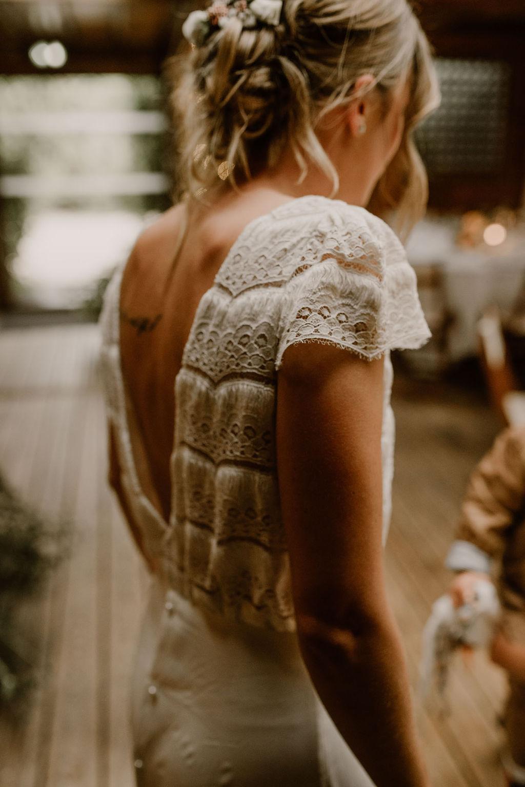 robe de mariee dentelle laure de Sagazan