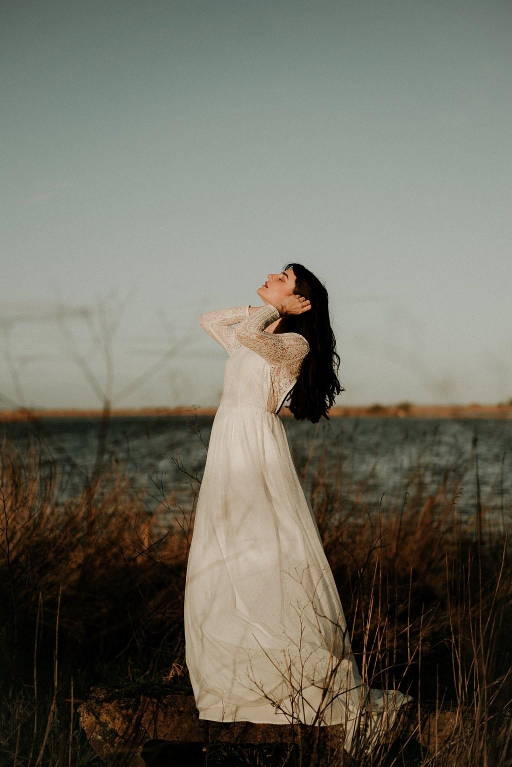 robe de mariee boheme manches longues