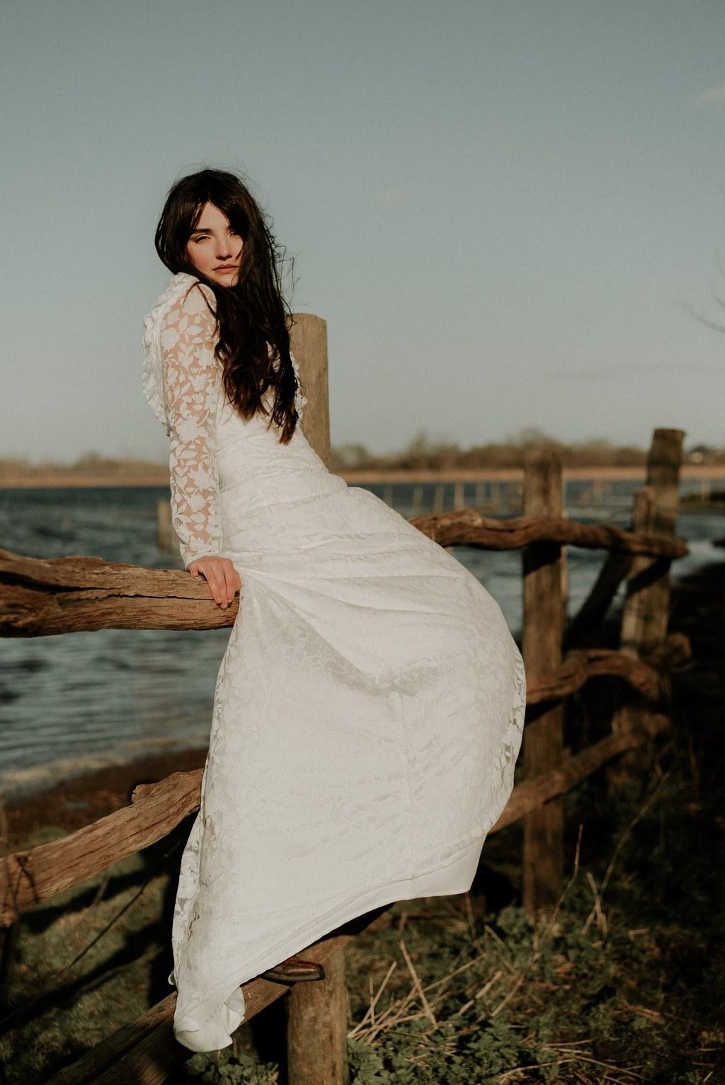 robe dentelle boheme mariage