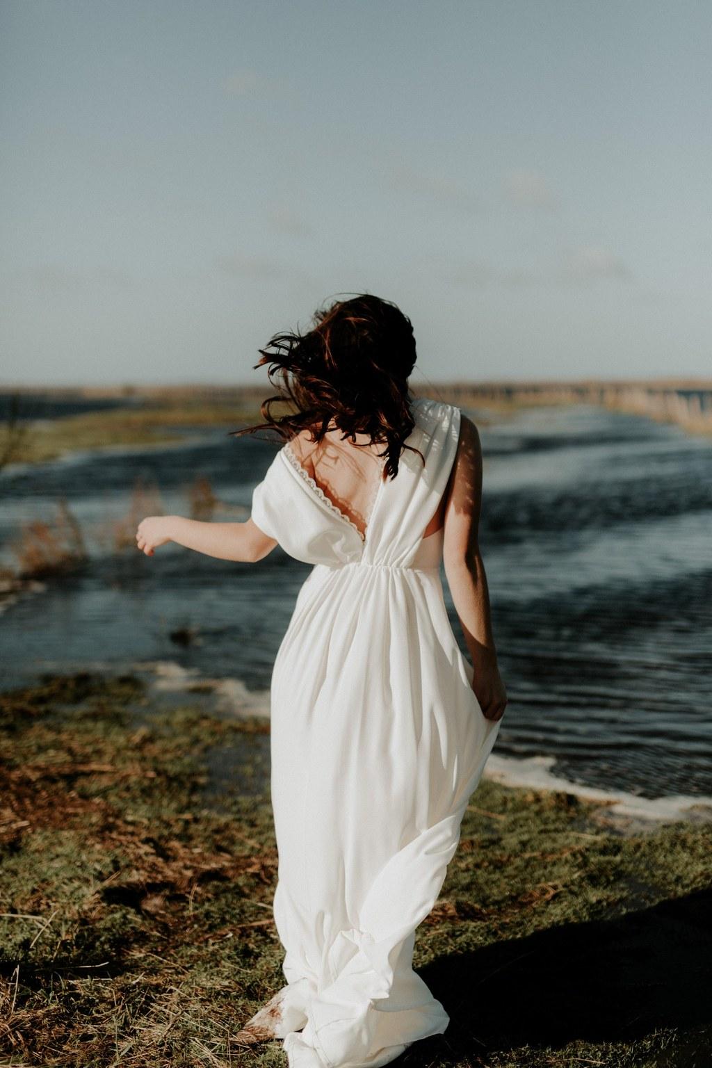 robe longue moderne mariage