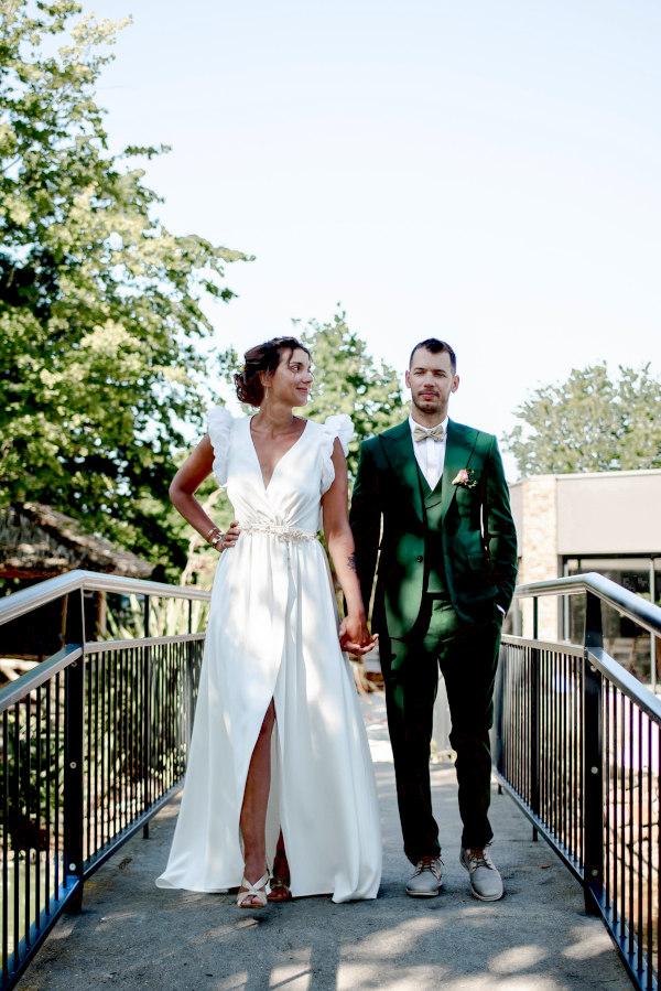 robe de mariee sur mesure moderne nantes