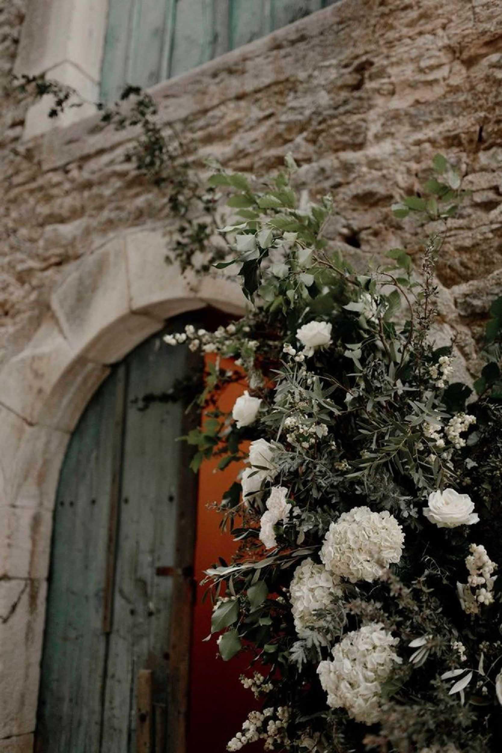 decoration florale arche