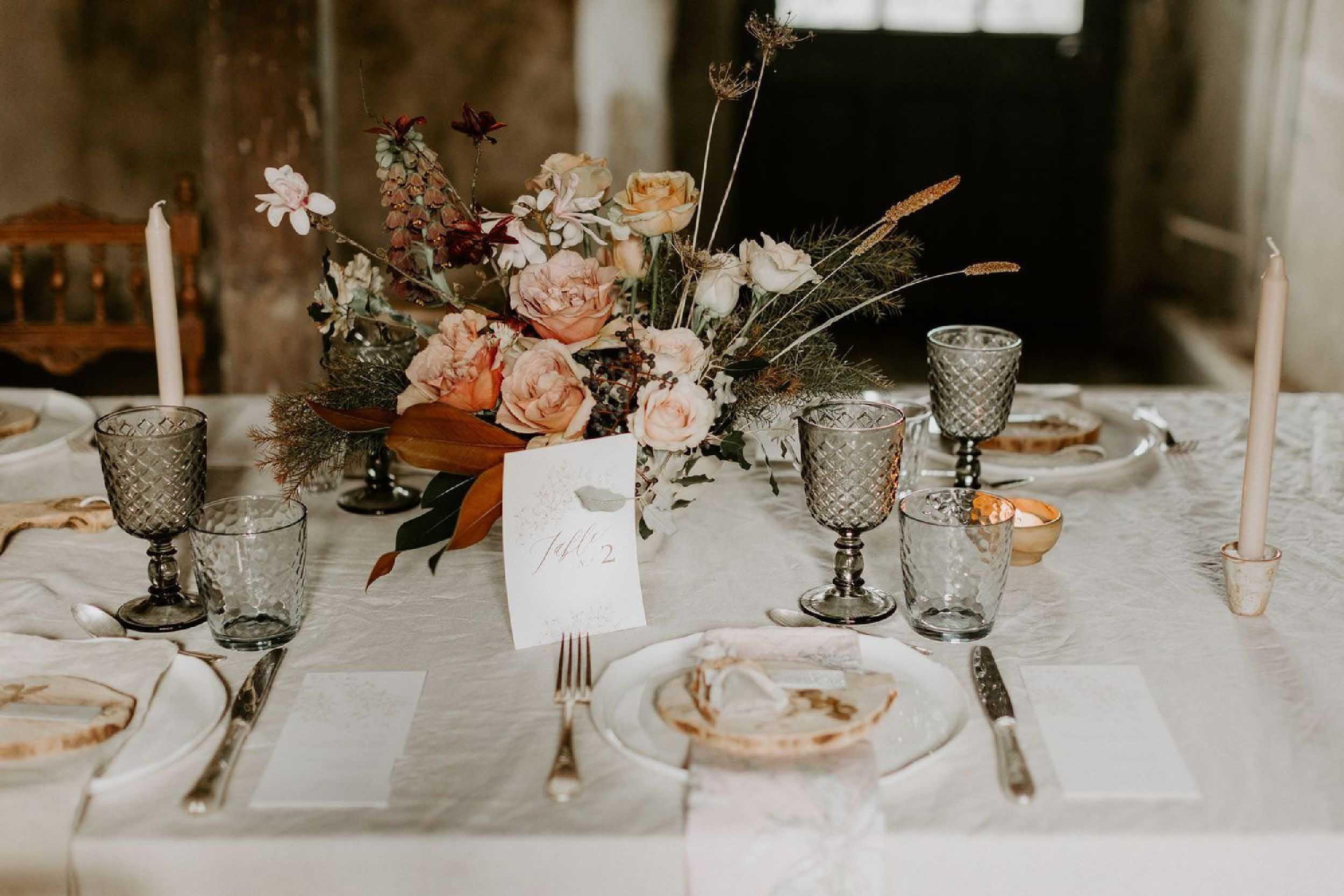 centre de table fleuri decoration table nantes