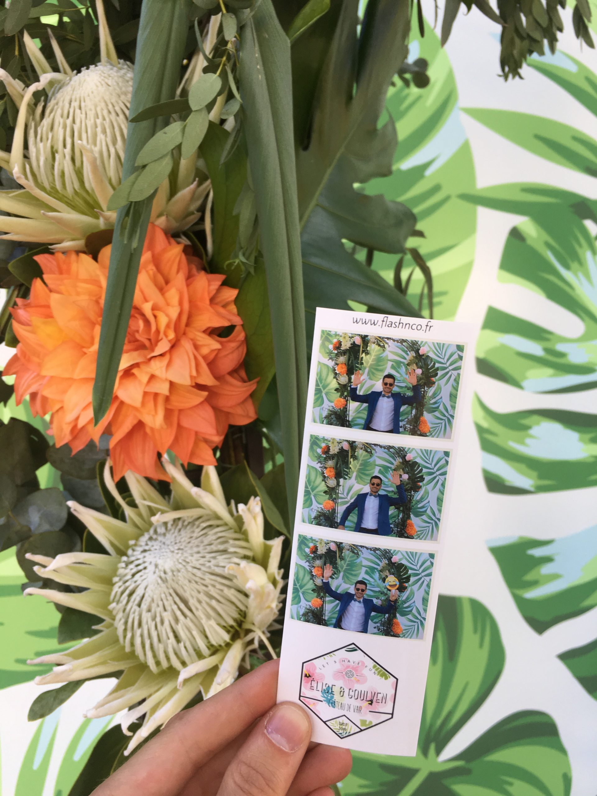 Format marque-pages photobooth mariage Loire-Atlantique