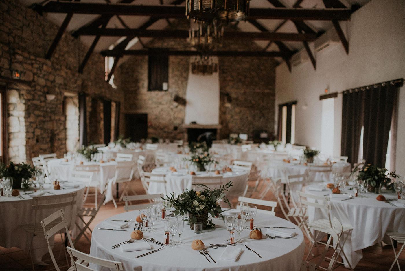 decoration de salle mariage champêtre végétal nantes