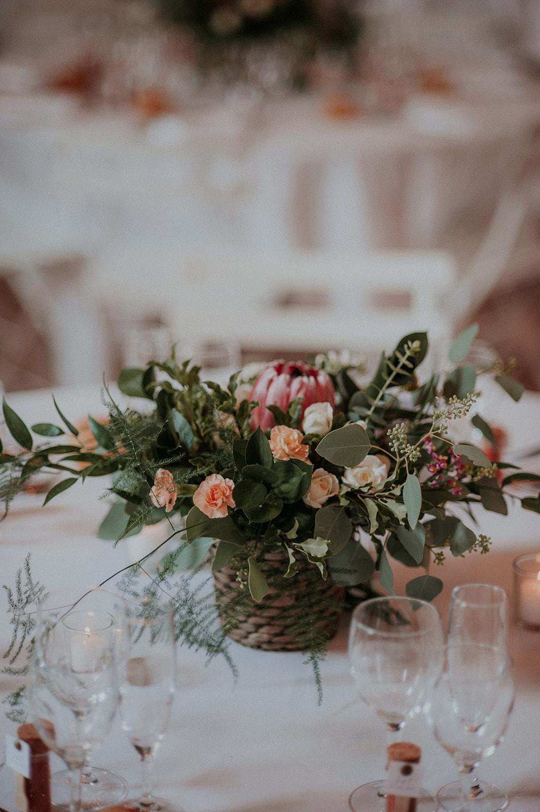 decoration florale table nantes mariage