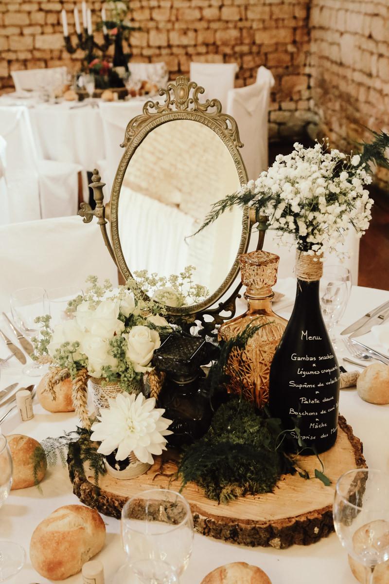decoration de table mariage château de la chevallerie