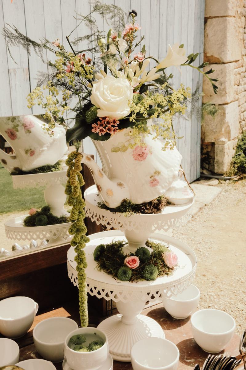 decoration de mariage champetre chic espace café the